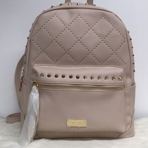 Bebe Joan Stones Large Backpack Studded Quilted